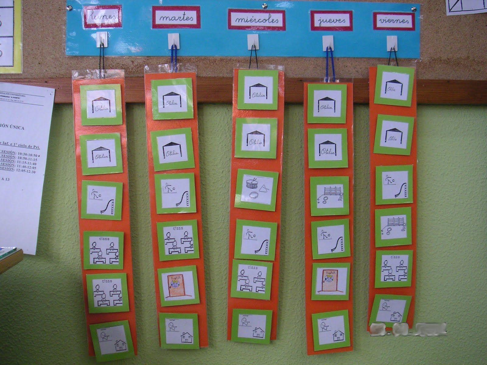 Resultado de imagen de organizadores de pictogramas aula tea