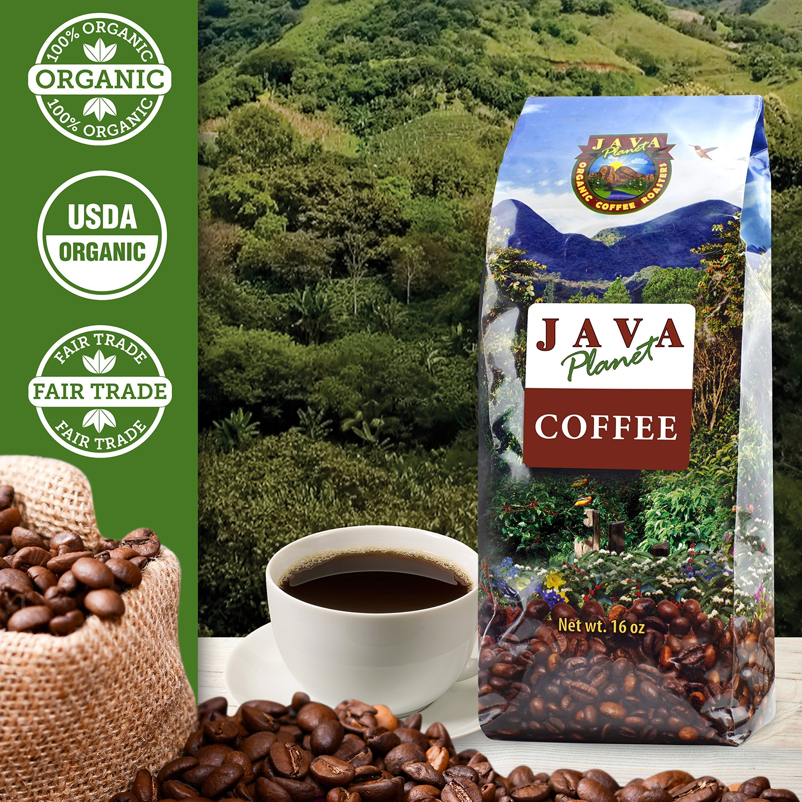 Java Planet Organic Coffee Beans From Peru Fair Trade