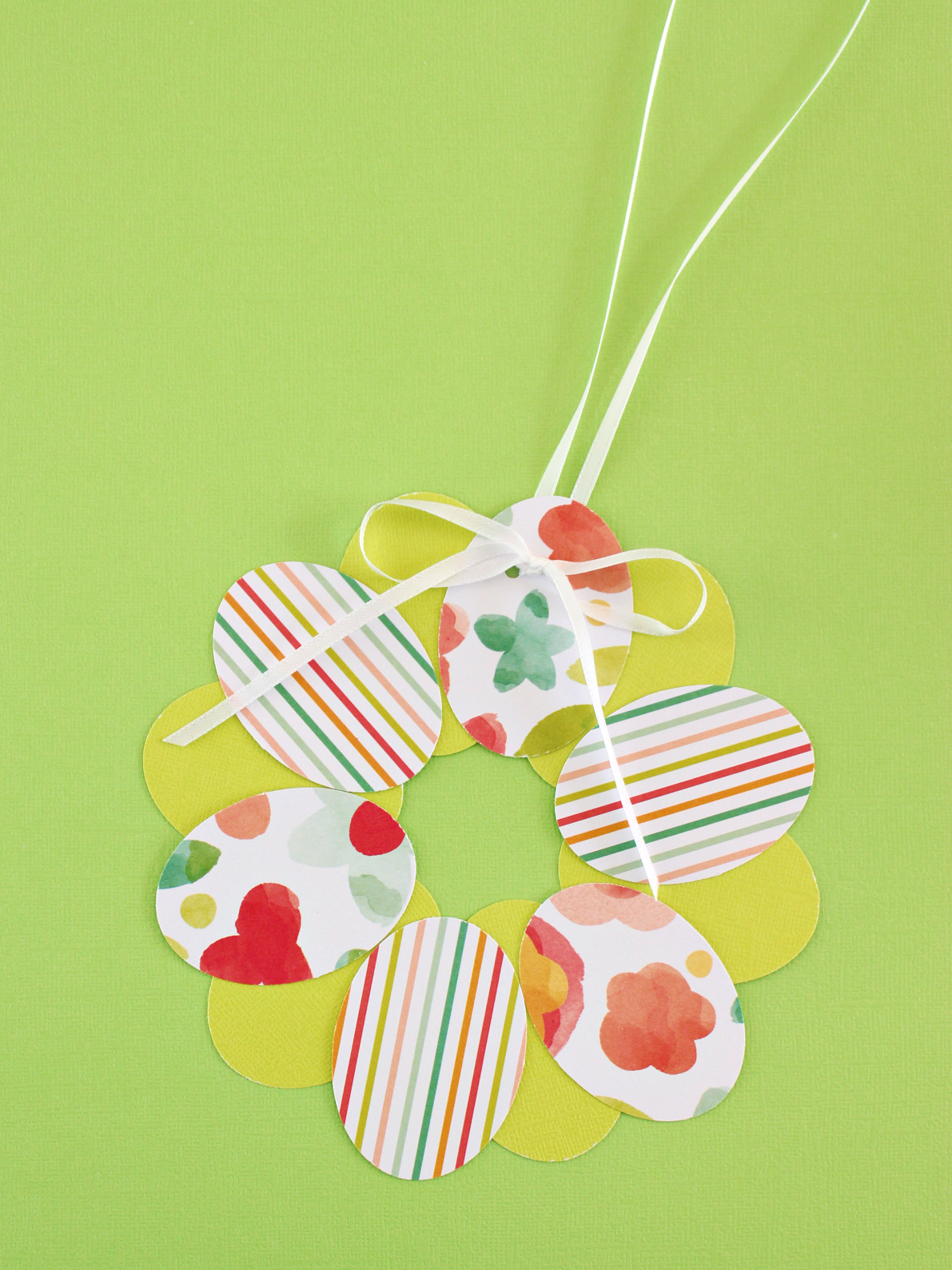 MINI EASTER EGG PAPER WREATH