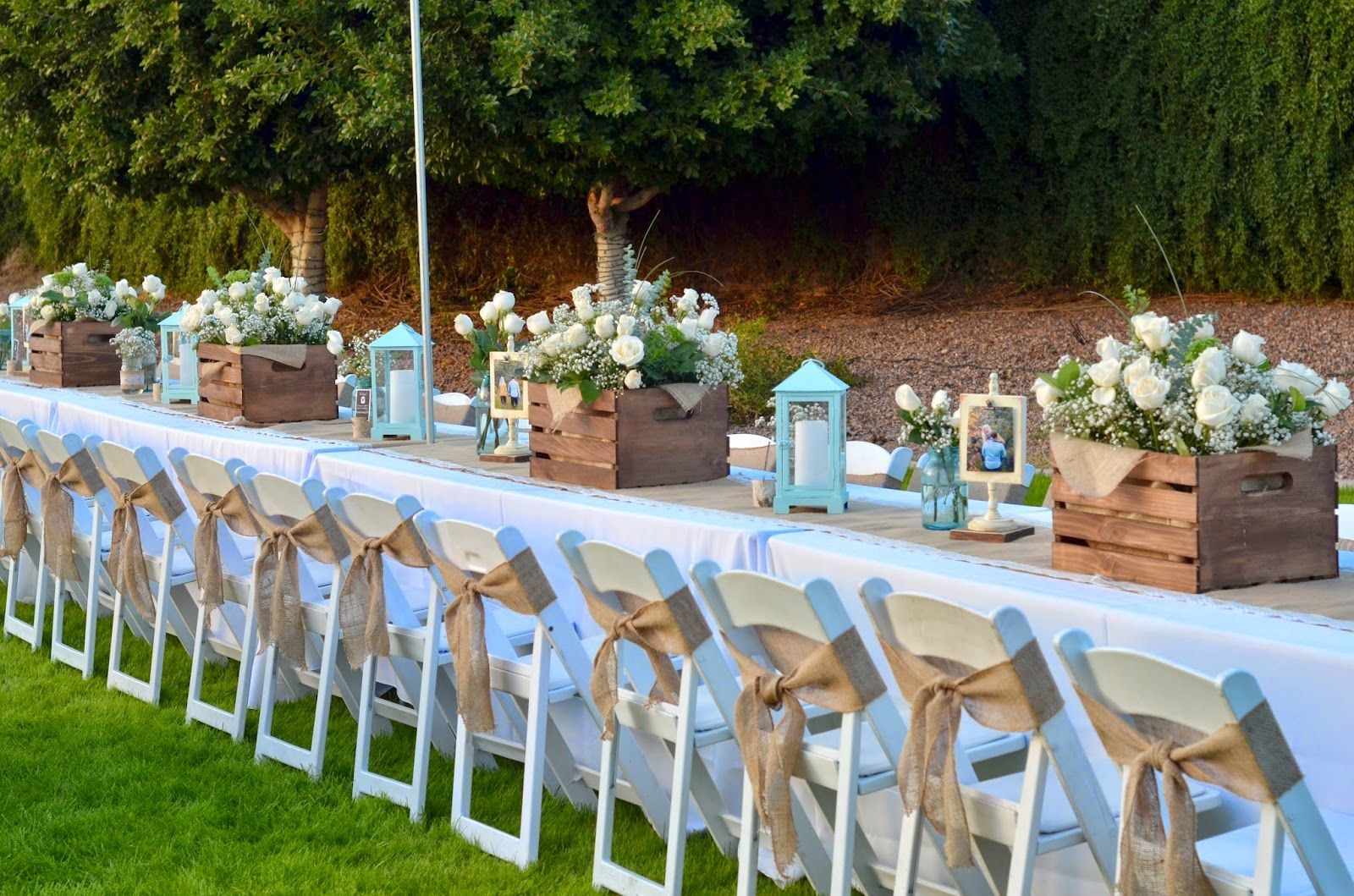 burlap bow on wooden chair Google Search Wedding