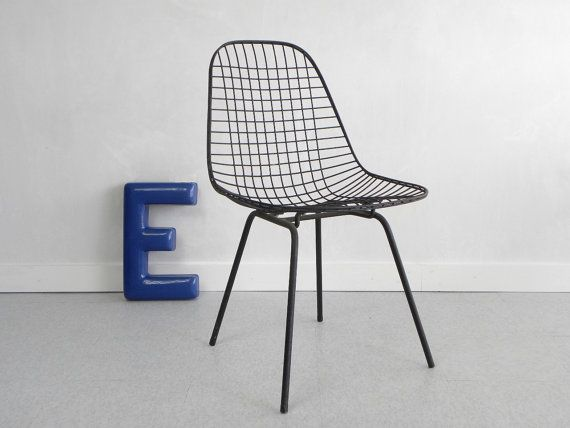 Eames Chair Wien 1950 s eames dkx wire side chair herman miller white seat pad