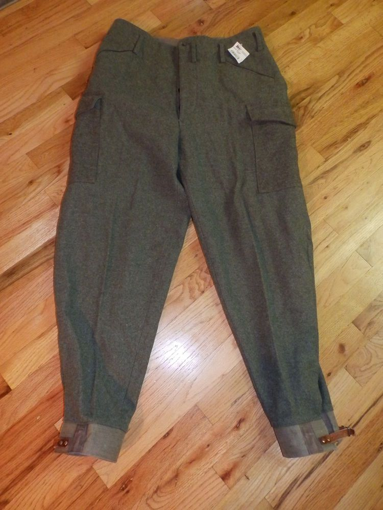 dbb350bbf326 vtg WWII unworn SWEDISH military heavy wool cargo ski pants trousers 37 x  32 xl £52.64 (BOA)
