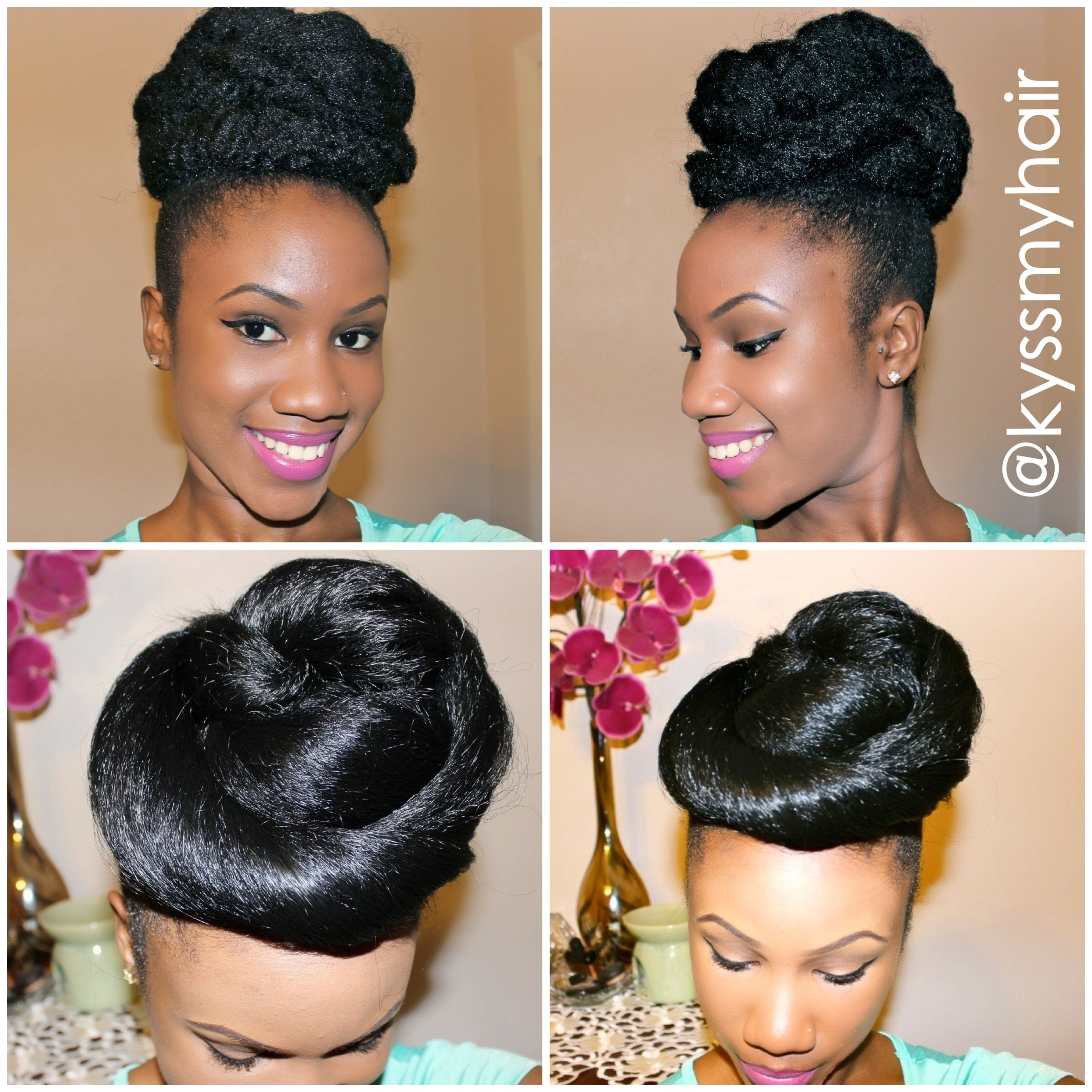 new special occasion natural hair bun tutorial up on my youtube