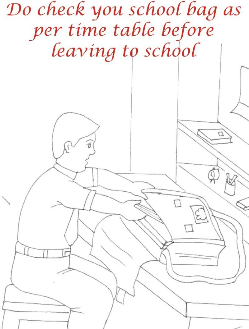 Etiquette & manners for kids in School Coloring pages   School coloring  pages, Manners for kids, Kindergarten worksheets