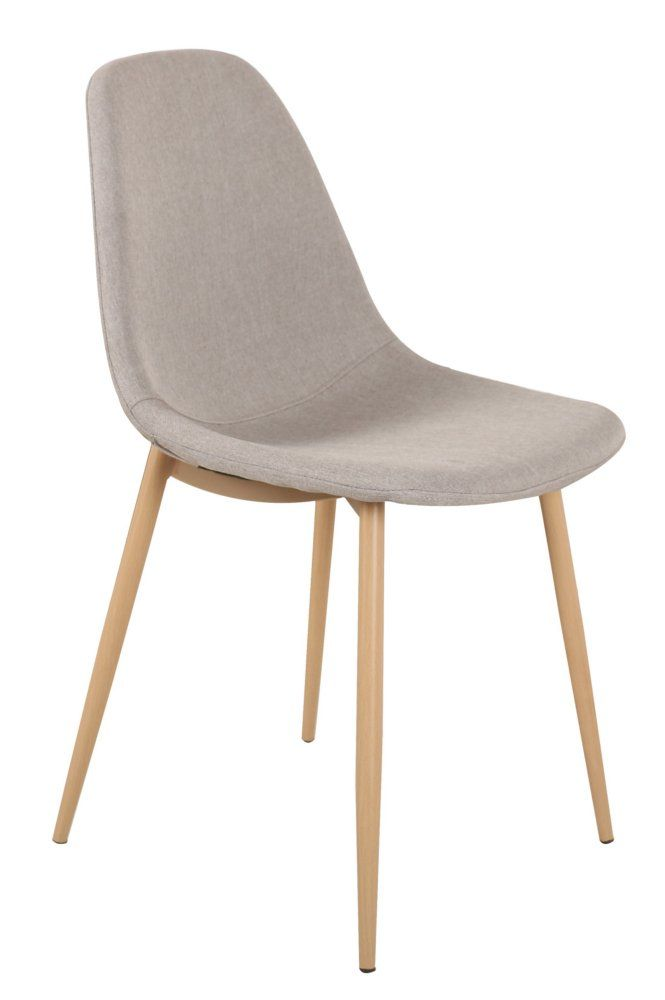 Chaise STOCKHOLM Design Scandinave Tissu Gris Clair