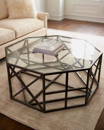 Octagon Coffee Table Neiman Marcus Horchow By Schnadig Tempered Glass