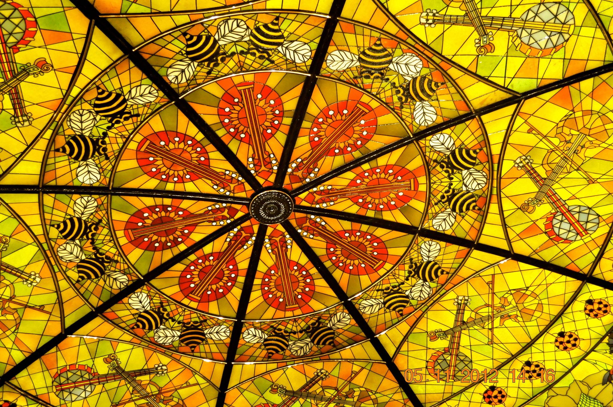 Ceiling stain Glass Opryland Hotel Nashville, Tn Stained