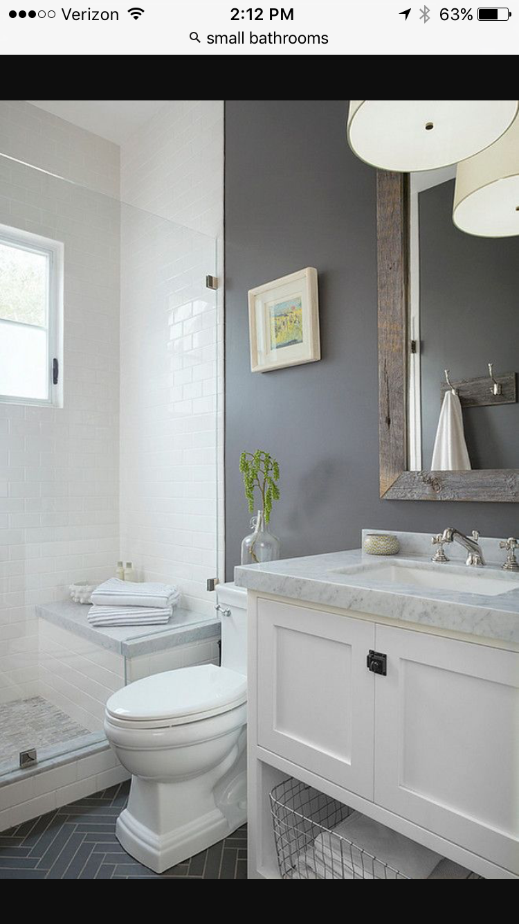 How To Make Your Room Look Spacious 7 Tiny Home Bathrooms Design Ideas That Anyone Can Do Small Bathroom Bathroom Design Small Gray White Bathroom