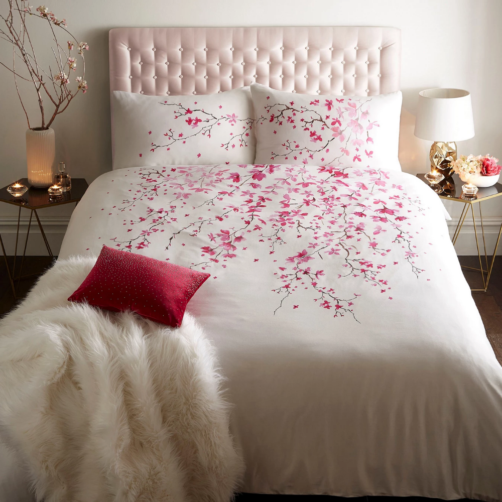 Star By Julien Macdonald White Cherry Blossom Duvet Cover