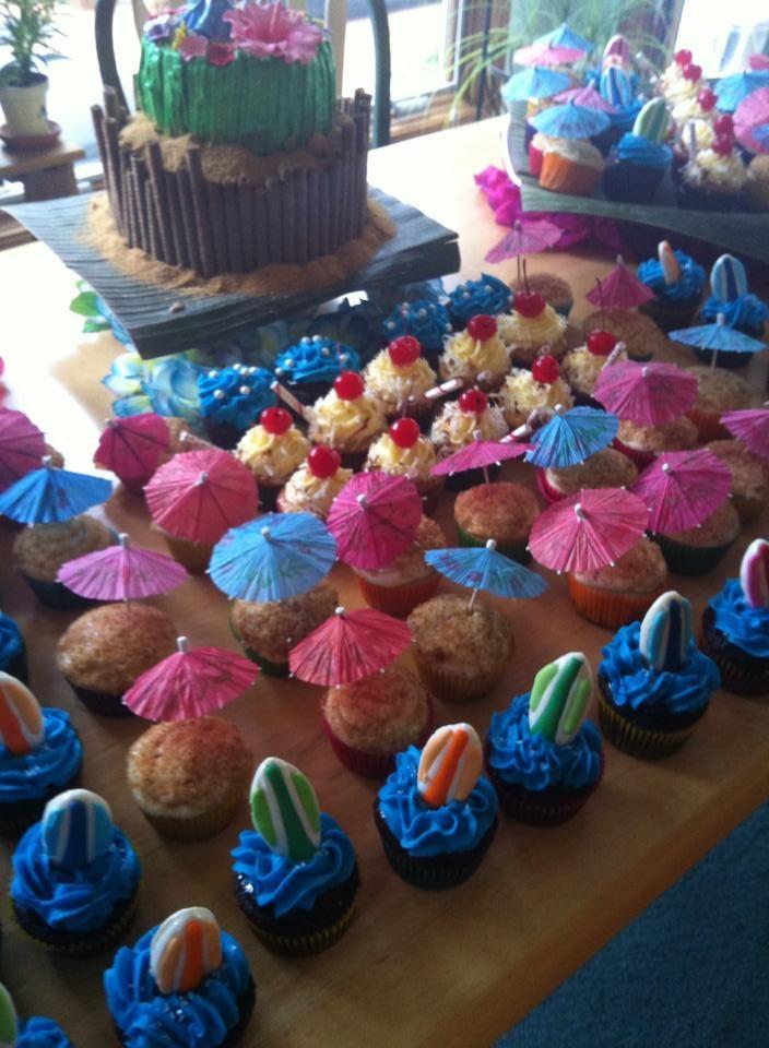 Iverson-Harsch wedding - Tropical Cupcakes