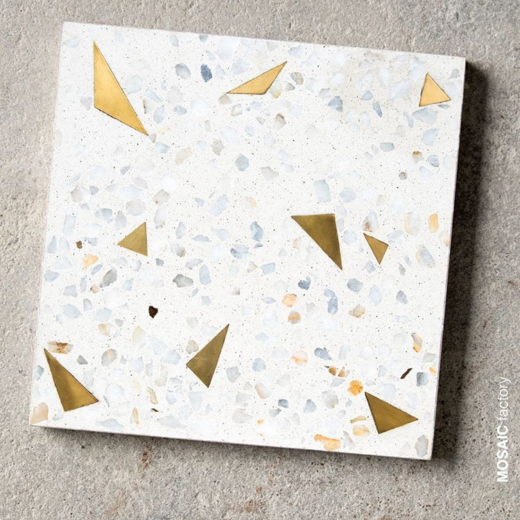 30x30 Cm Terrazzo Tile With Recycled Brass Chips From Our