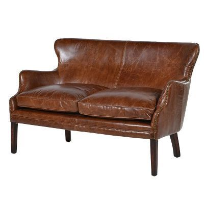 Contemporary Cuba Brown Leather 2 Seater Sofa For Your House - Review 2 seater sofa Simple
