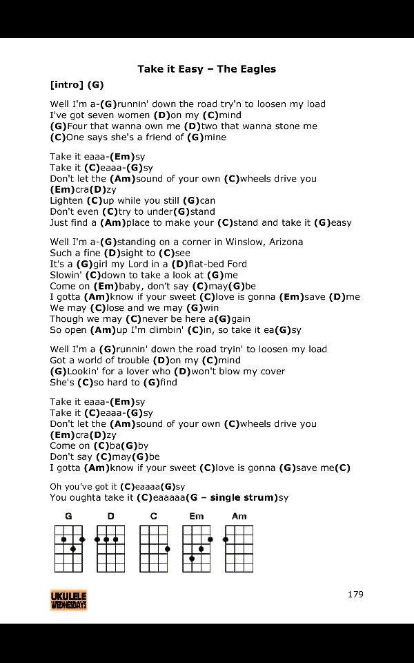 Just A Friend To You Ukulele : friend, ukulele, Easy., Eagles, Ukulele, Chords, Guitar, Songs,, Lyrics,, Songs