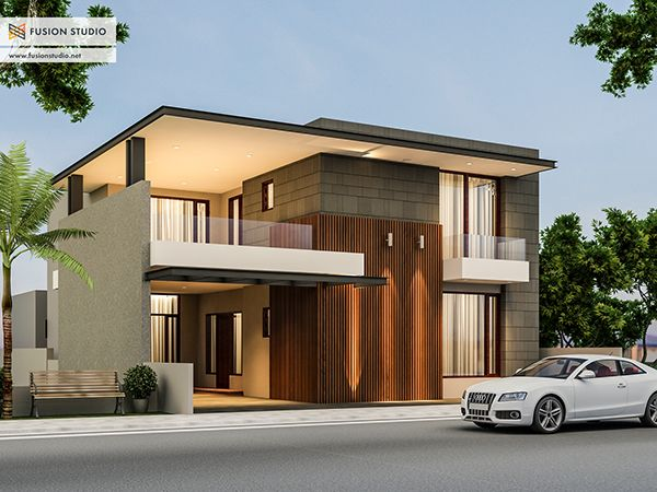 Modern Exterior Front Elevation : House design at ludhiana india elevation modern