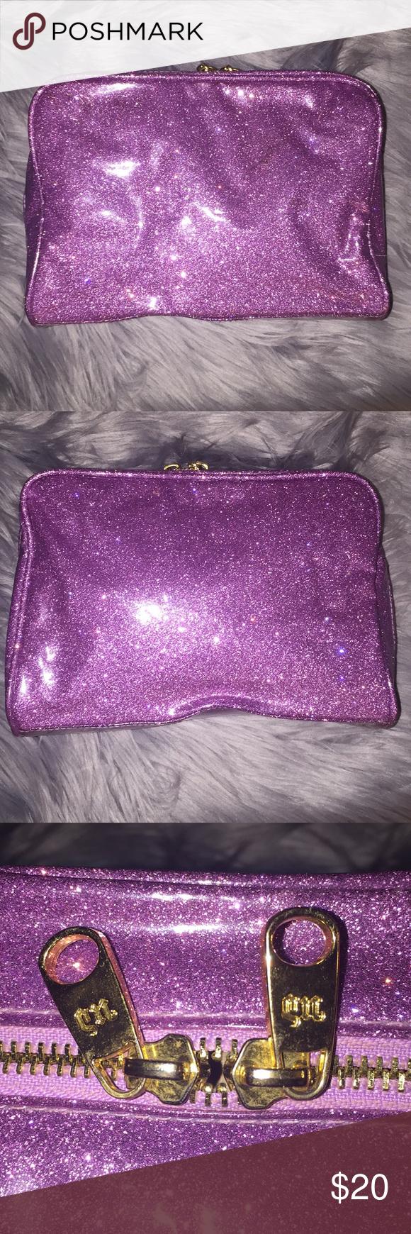 'hold it together' glitter case — purple glittery case
