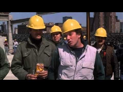 "Anne Bancroft gives the crude construction workers a piece of her mind in ""Garbo Talks"" (1984)"