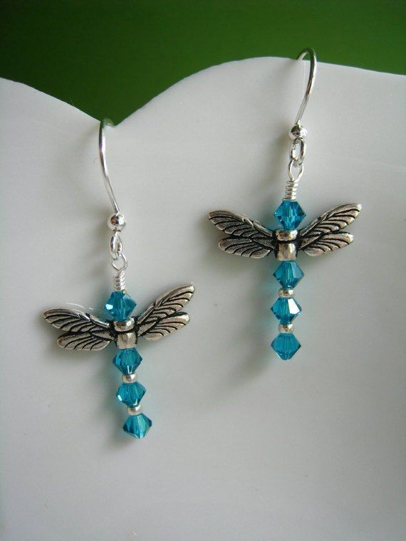 Teal Blue Dragonfly Earrings Swarovski Crystal Dangle Earrings with Pewter Wings Handmade Jewelry for Nature Lovers Mother's Day Gift -   - #beautifuljewelrydiy #beltdiyideas #Blue #crystal #dangle #Day #diyjewelryeasy #diyjewelryholder #diyjewelrymaking #diyjewelrytosell #dragonfly #earrings #gift #handmade #handmadejewelrydiy #jewelry #Lovers #Mothers #nature #pandoracharms #pewter #swarovski #Teal #Wings