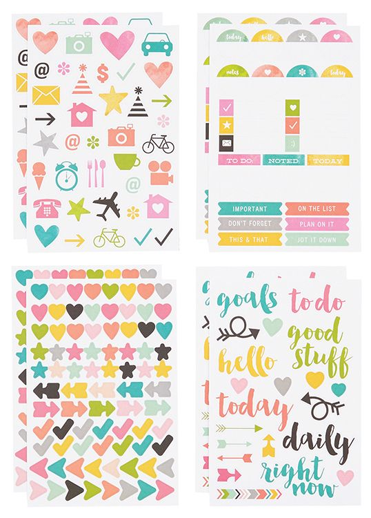 Simple+Stories+-+SNAP+Collection+-+Carpe+Diem+-+Cardstock+Stickers+-+Icons+at+Scrapbook.com