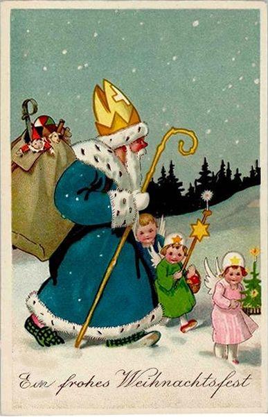 Ansichtskarte, St Nikolaus | Sprüche | Navidad, Dibujos ...