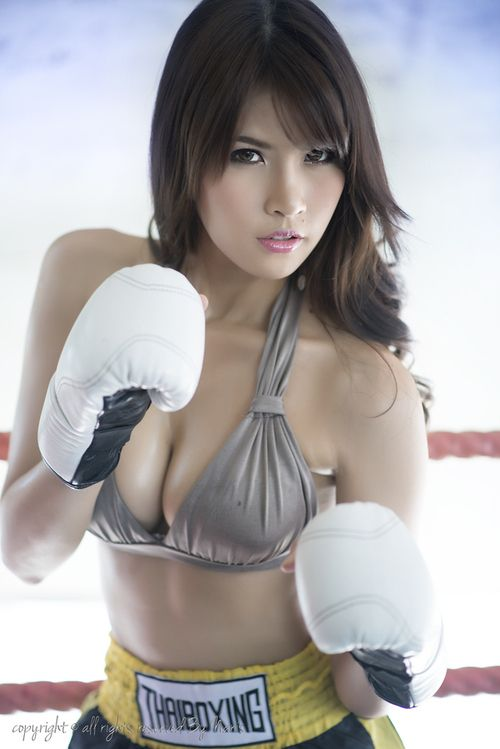 boxing Sexy asian girl