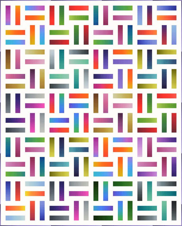 Rainbow Rails Jellyroll Quilt - Free Pattern - AQS Blog #jellyrollquilts