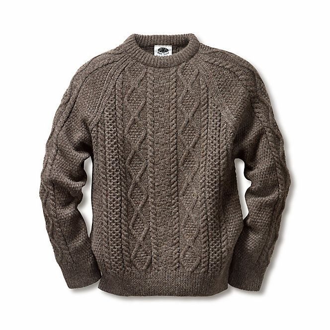 Black Sheep Aran-Pullover   Strickwaren