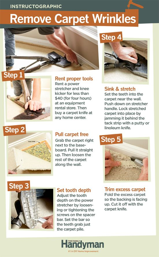 How To Repair Carpet Removing Wrinkles Carpet Wrinkles Carpet Cleaning Hacks Removing Carpet