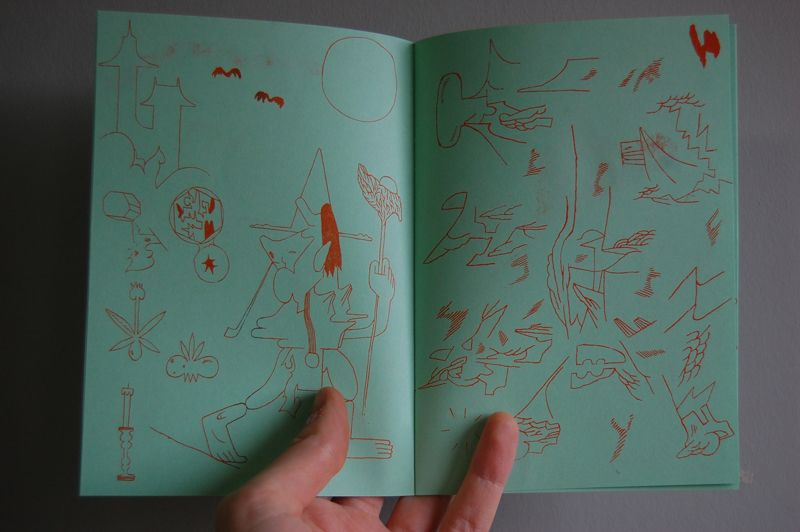 Don't Break the Oath, Drawings by Patrick Kyle 16 Pages, Orange Ink on Green Paper.  November 2013 Second Edition, August 2015