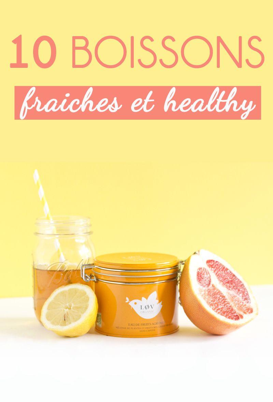 10 boissons fraiches et healthy à siroter tout l'été ! - Sweet & Sour | Healthy & Happy Living