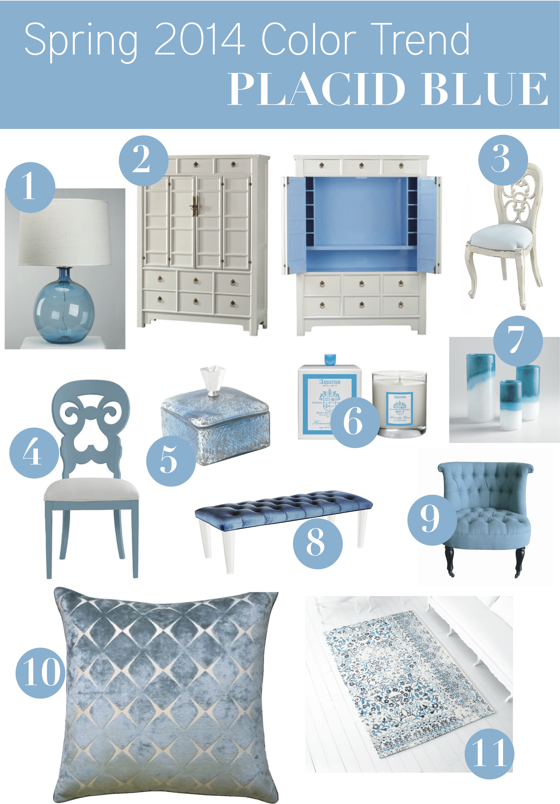 Pantone Home Decor Color Trend Placid Blue I Call It Happy Blueone Of My Favorite Colors