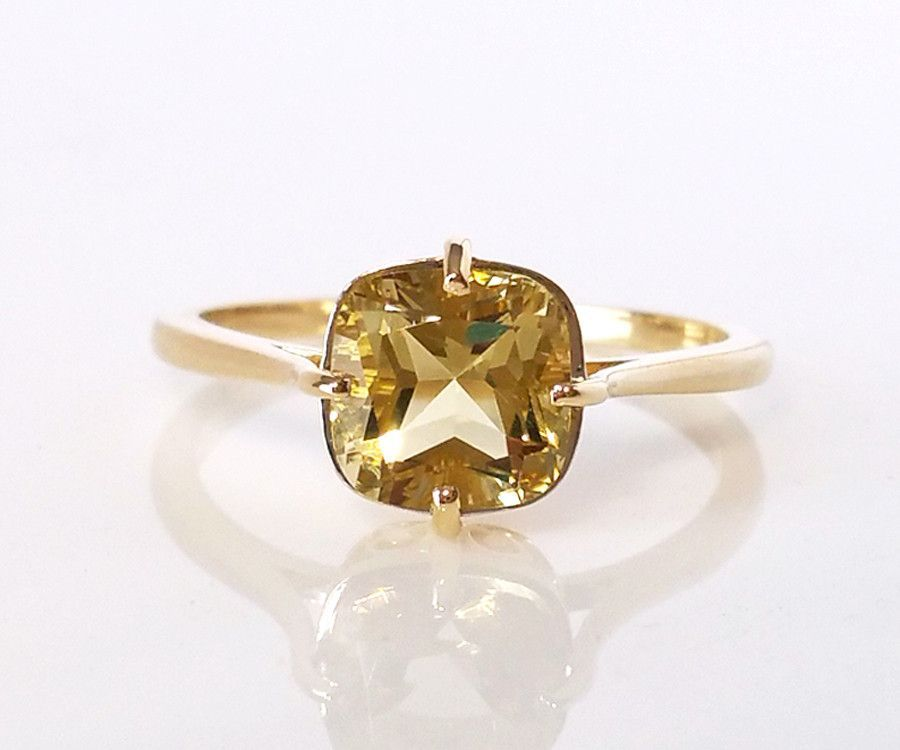 def98417ec69c Antique Yellow Citrine Solitaire Ring in 2019 | Products | Topaz ...