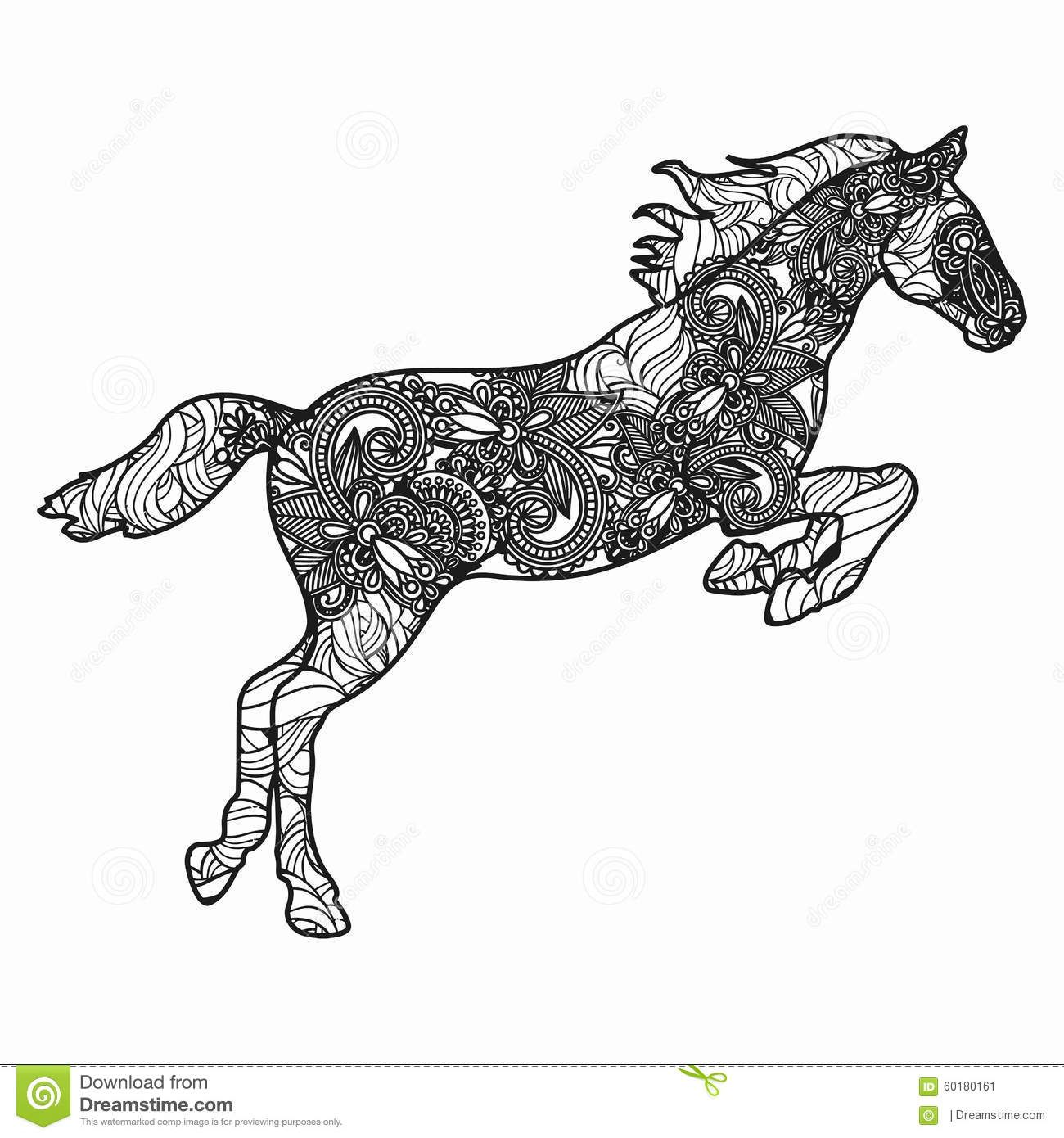 Horse Coloring Pages Adult Art Therapy Zebras Zentangle Unicorns Shells Horses Templates See More