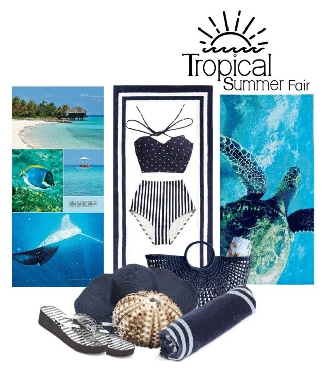 """""""Tropical summer"""" by emeselanyi ❤ liked on Polyvore featuring PBteen, Pottery Barn, Mark & Graham, MICHAEL Michael Kors and The Beach People"""