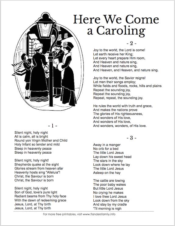 photo relating to Christmas Carol Lyrics Printable Booklet named Xmas Carol Tune Sheets (Cost-free Printable) Christmas Listed here