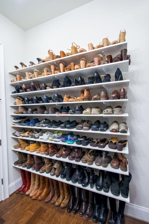 50 Best Beautyful Shoe Storage Ideas Diy Closet Shelves Shoe