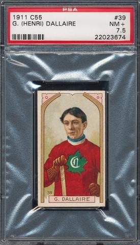 G (Henri) Dallaire Hockey Card - C55 Imperial Tobacco - 1911