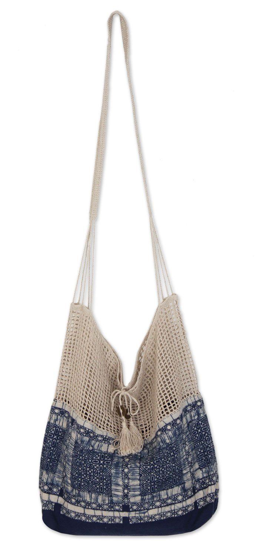 Handmade Batik Cotton and Hemp Shoulder Bag , \'Hmong Indigo ...