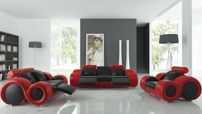 ▷ 1001 + Ideen zum Thema Welche Farbe passt zu grau? - wohnzimmer rot grau