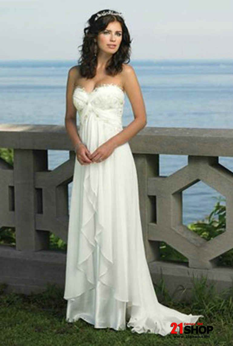 Sleeves knee length corset square neckline beach wedding dress