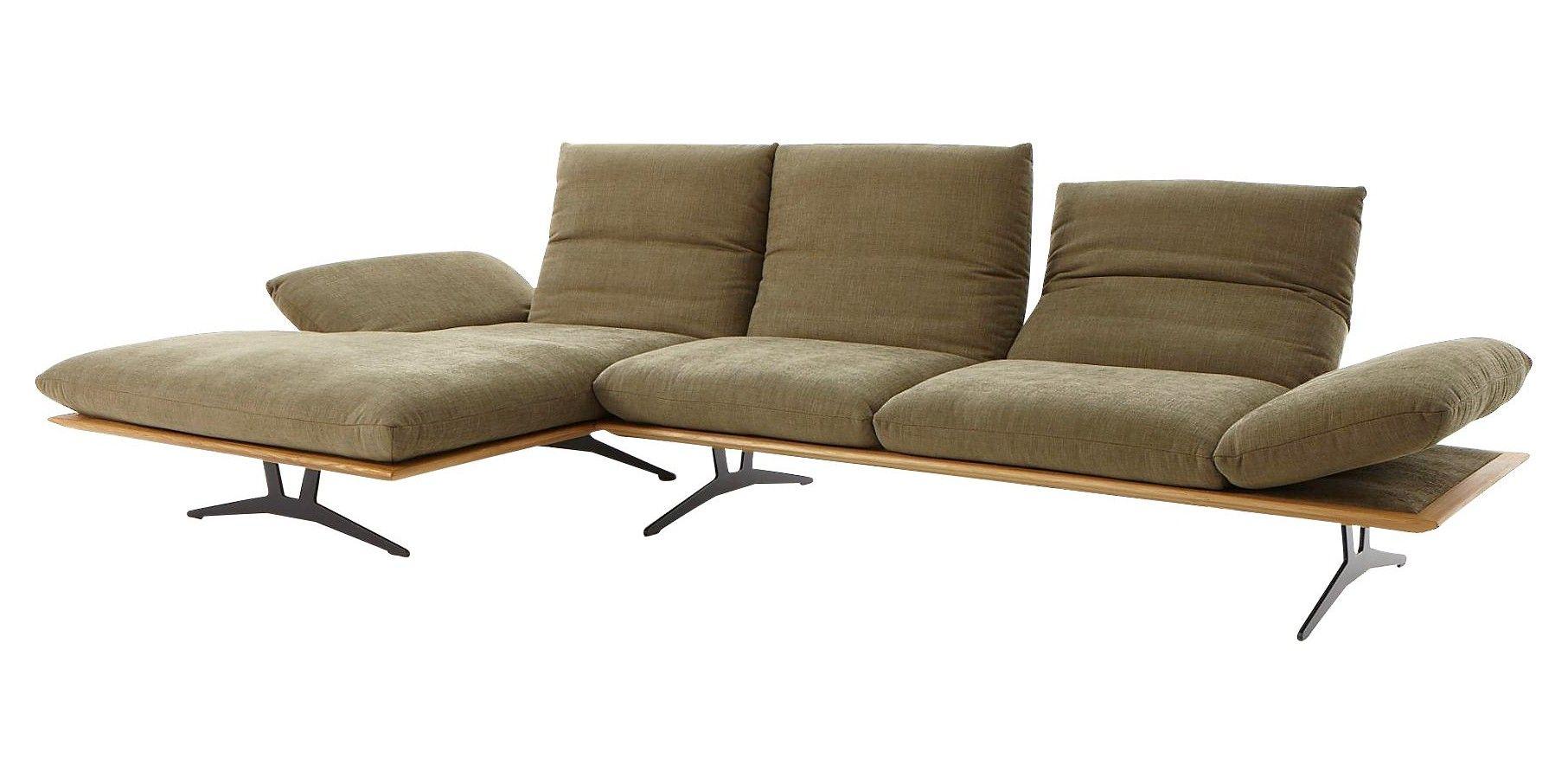 Ecksofa Grun Flachgewebe Wohnen Sofa Wohnzimmer