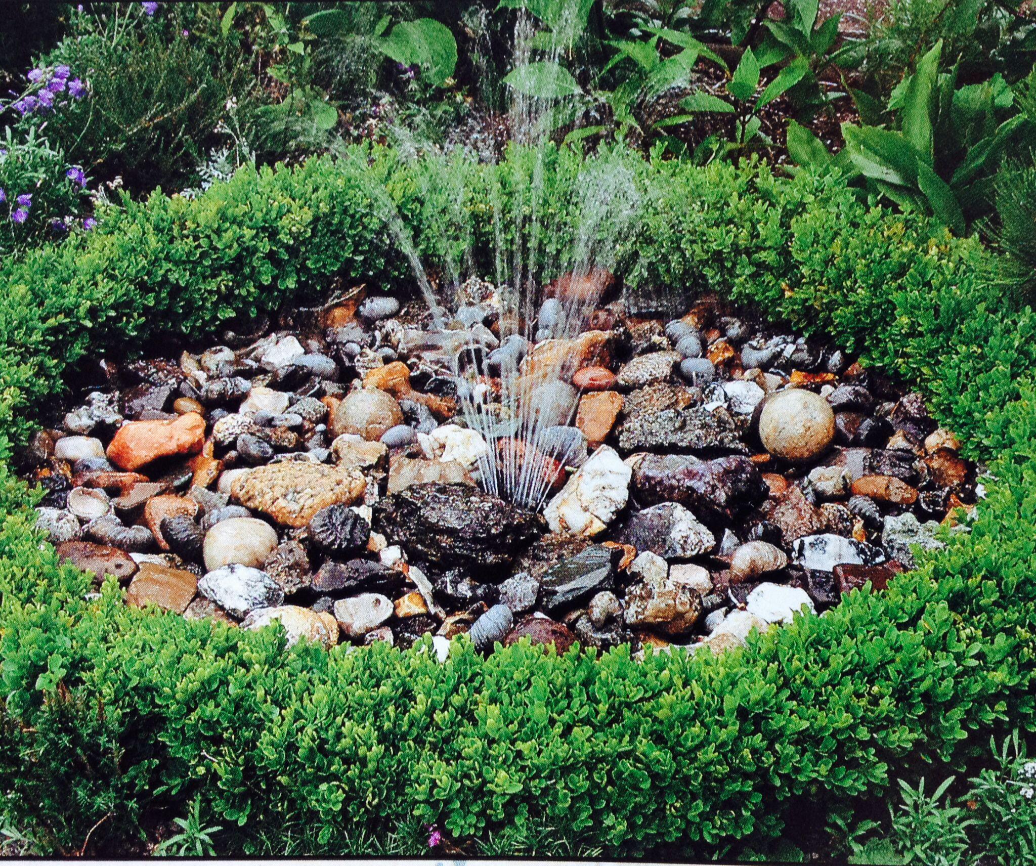 Pebble pond idea. Backyard fun, Garden, Fountain