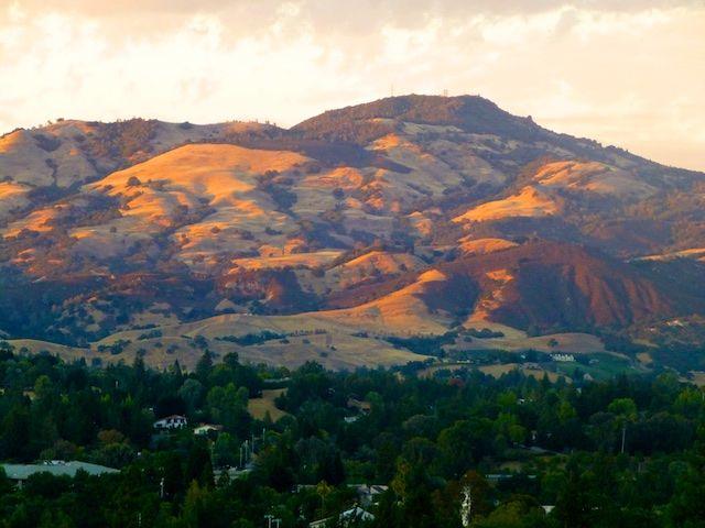 mount diablo from danville california usa danville california