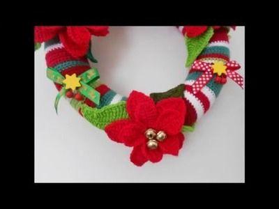 Adorno de navidad para la puerta a crochet