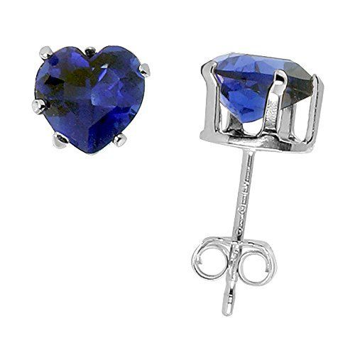 Sterling Silver Cubic Ziconia Heart Sapphire Earrings Studs 6 mm Navy color 1.5 carats/pair, http://www.amazon.com/dp/B000B6TTMS/ref=cm_sw_r_pi_awdm_K3Xrvb1BNHQ1X
