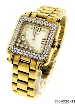 Chopard 27/6679-23 Happy Sport 18k Yellow Gold Watch