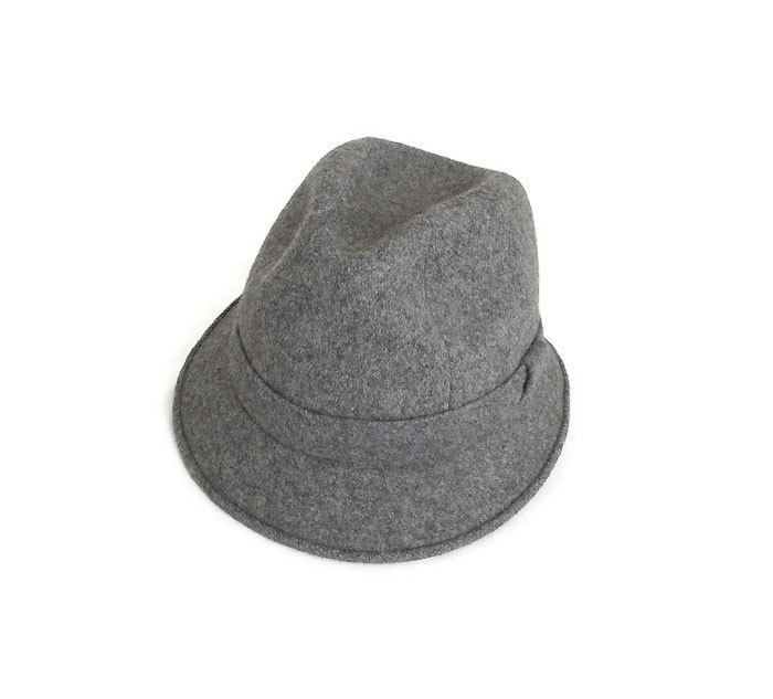 Grey Wool Fedora, Made in France, Vintage Fedora, Mens Fedora, Derby Hat, Vintage Hat, French Hat, Vintage Mens Fashion