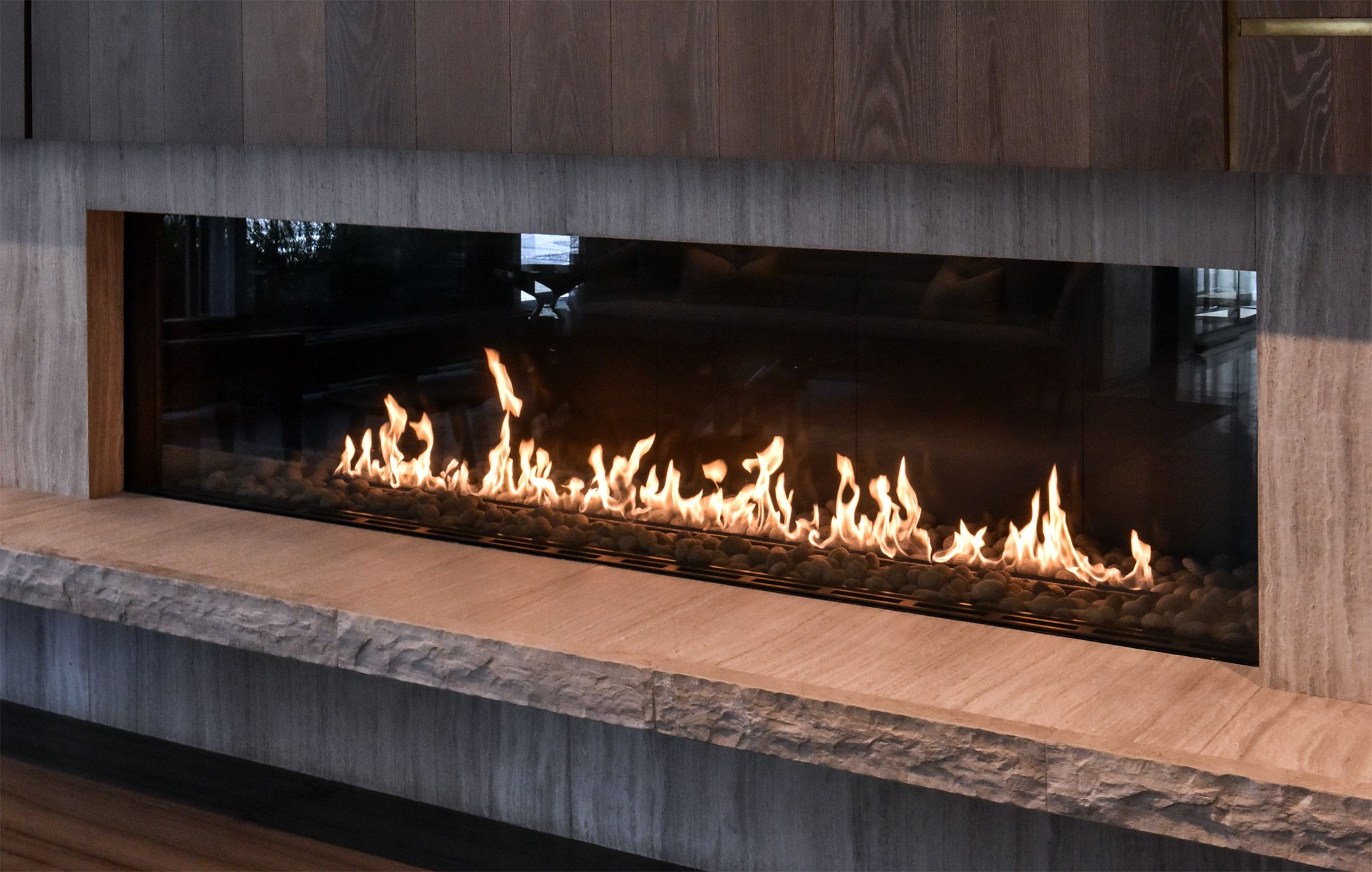 This Modern Linear Fireplace Can Turn Up The Heat And The Charm