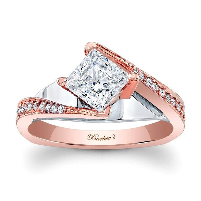 rose gold engagement ring 7922ltw dramatic sure to catch the eye of many - Rose Gold Wedding Rings For Women