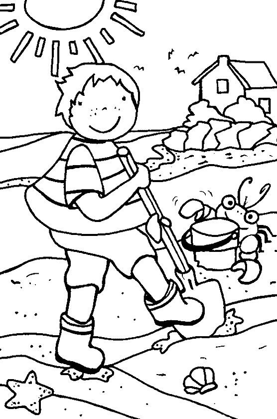 Beach Coloring Page | Pre-K Summer | Pinterest