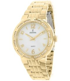 240f07dcc7a2 Festina Women s Mademoiselle F16704 1 Gold Stainless-Steel Quartz Watch